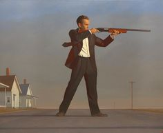 Bo Bartlett, The American 2016 oil on linen 82 x 100