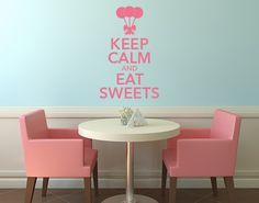 Wandtattoo Keep Calm Sweets
