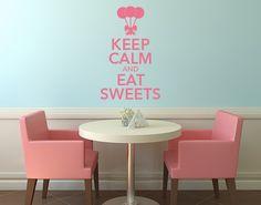 Wandtattoo Keep Calm Sweets
