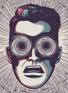 Mens Health by Andrew Fairclough – 2 Illustration Illustration Design Graphique, Art Graphique, Illustration Art, Magazine Illustration, Creative Illustration, Arte Pop, Pop Art Vintage, Vintage Man, Inspiration Art