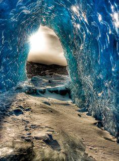 Glacier Cave in Alaska ~ by Ron Gile