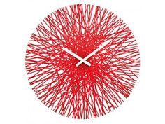 Found it at Wayfair - Koziol Silk Clock Red Wall Clock, Wall Clock Design, Unusual Clocks, Cool Clocks, Tropical Wall Clocks, London Clock, Tabletop Clocks, How To Make Wall Clock, Modern Clock
