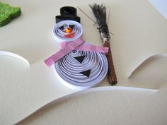 quilling christmas | Quilled snowman card - Paper quilling Christmas