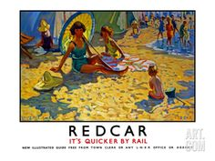 Redcar, LNER Poster, 1934-1935 Giclee Print by Dorothea Sharp at Art.com Stockton On Tees, Sailing Regatta, Northern England, Railway Posters, Ways Of Seeing, Vintage Travel Posters, Find Art, Framed Artwork, Giclee Print