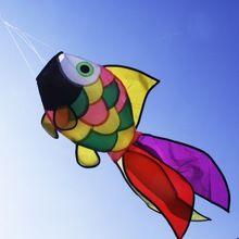 Nylon Poissons Arc-En-Manche Festival En Plein Air Jardin Jardin Décoratif Kite Manche Enfants Jouets Vent Spinner(China (Mainland))