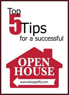 Prepare for your open house with these 5 simple tips | via Being Spiffy