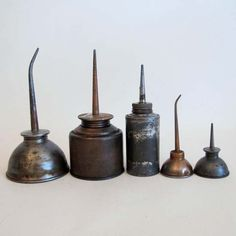 Set of 5, Oil Cans
