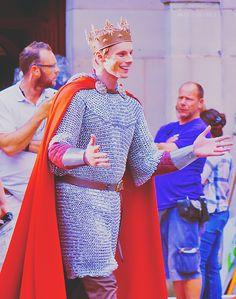 Bradley James as King Arthur