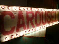 Vintage lighted carousel sign,  funky junk by tina