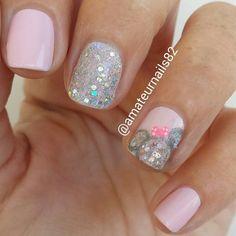minnie mouse nail design, unas decoradas con minnie Mouse