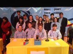 One of the High School teams competing at the Hi-Q Academic Competition at Theodore High in Mobile, Alabama