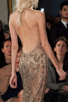 messy braid & glam gown Emilio Pucci Fall 2014