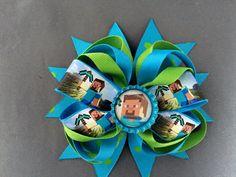 Minecraft Steve Hair Bow by ChristinasKrafts on Etsy