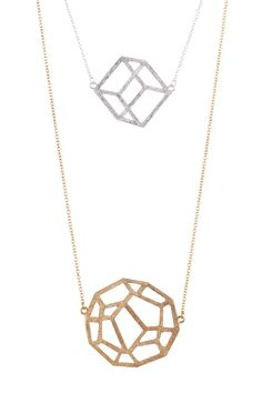Geometric Necklace - love the cube one!