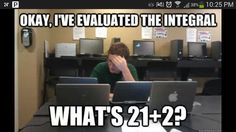 #calculus!!! Bahaha my life!!! I said that 4 squared was 8 in my last test!!!