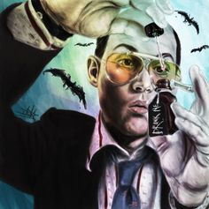 Drink Me: Fear and Loathing in Las Vegas Painting by TheTanyaDoll