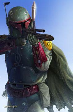 Boba Fett - Raymund Lee Aliens, Cyberpunk, Star Wars History, Star Wars Canon, Star Wars Boba Fett, Jango Fett, Star Wars Images, Star Wars Fan Art, The Empire Strikes Back