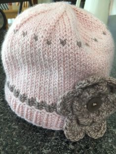 3503342057f Little Pink Baby Hat Knit in a Day Baby Hat Knitting Patterns Free