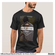 Official Brand Merch of Scott Hervieux Outdoors T-Shirt Dark Colors, Tshirt Colors, Fitness Models, Outdoors, Casual, Sleeves, Mens Tops, Cotton, T Shirt