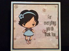 Items similar to Handmade Thank You Card on Etsy Handmade Thank You Cards, Handmade Gifts, Aud, Your Cards, Stamp, Unique Jewelry, Crafts, Etsy, Kid Craft Gifts