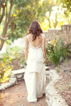 slightly backless wedding gown