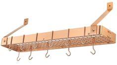 Satin Copper Cookware Shelf w/ Grid | One Kings Lane
