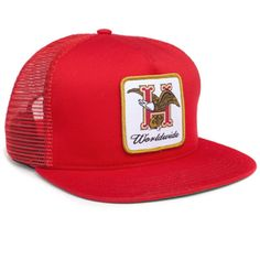 Huf Domestic Trucker Snapback Hat (Red) $33.95