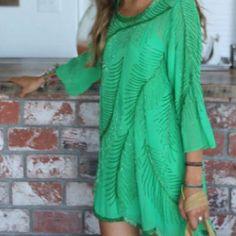 Green peacock sequin dress