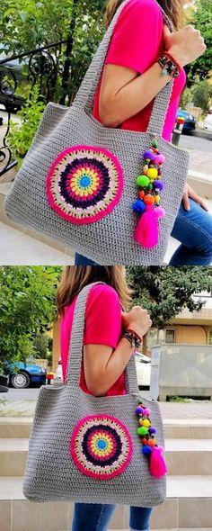 top design of crochet bag