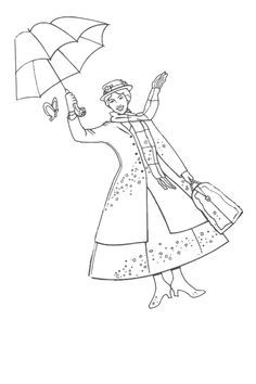 Print this Mary poppins coloring sheet | Magic in the Music Room ...