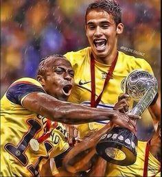 """Cristian """"Chucho""""Benitez y Diego Reyes Club America Campeon 2013"""