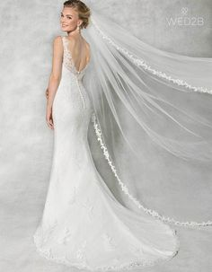 Back view of Diana Illusion wedding dress