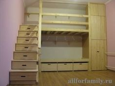 drawer steps to loft bed