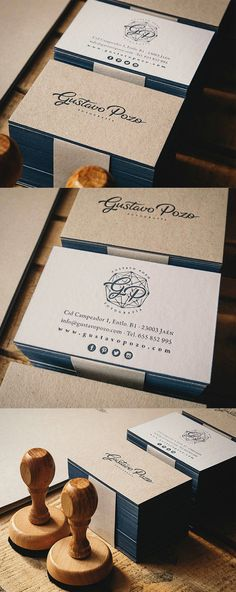 Earthy Edge Painted Letterpress Business Card For A Photographer