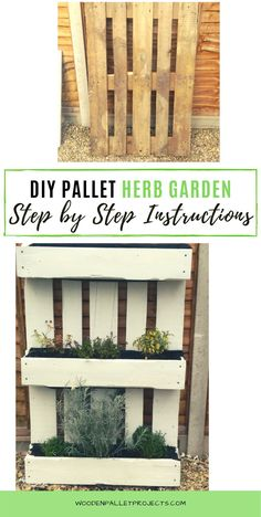 If you looking for a way to make your own vertical garden with a pallet this step by step diy tutorial is right for you. Build it, plant it and enjoy fresh herbs every day even without a big garden. Diy Furniture Projects, Diy Home Decor Projects, Diy Pallet Projects, Easy Diy Projects, Garden Projects, Upcycling Projects, Herb Garden Pallet, Pallets Garden, Big Garden