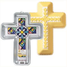 Truly inspiring for holidays, baptism, first communion, confirmation or other religious occasions. Bevel design is excellent for rolled fondant.  Instructions included.