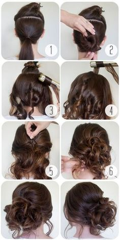 Frisuren Lange Haare 2019 - Cool and Easy DIY Hairstyles - The Top Half - Quick and Easy Ideas for Back to S. Medium Hair Cuts, Medium Hair Styles, Curly Hair Styles, Updo Styles, Trendy Hairstyles, Braided Hairstyles, Wedding Hairstyles, Layered Hairstyle, School Hairstyles