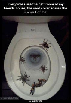 The Scariest Toilet Seat Cover Ever#funny #lol #lolzonline