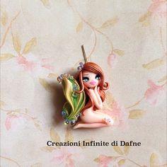 #polymer #clay #silk #shibori #ribbon #craft #fairy