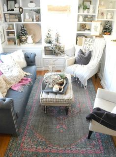 Adding Christmas in a small home. Christmas Home Tour - Nesting With Grace