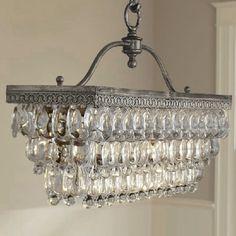 Antique Vintage Rectangle Crystal Pendant Light Ceiling Lamp Chandelier Lighting in Home & Garden | eBay