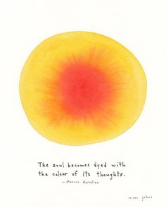 Quote: Marcus Aurelius / Illustration: Marc Johns
