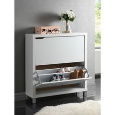 Look at this White Modern Shoe Cabinet by Baxton Studio I love how sleek this is for shoe storage! Decor, Furniture, Shoe Cabinet, Modern Furniture, White Cabinets, Interior, Cabinet, Home Decor, Wholesale Interiors