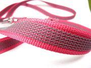 gummiertes Gurtband in Pink für Hunde