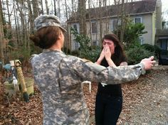 """""""My sister is my best friend. She's been in basic training, and my family surprised me for Christmas."""""""
