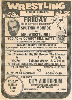 Interesting main event with Memphis legend Sputnik Monroe taking on Mr. Wrestling 2