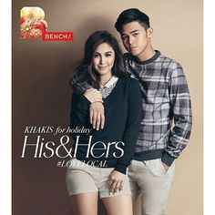 #EzRepost @benchtm with @ezrepostapp  BENCH Holiday 2015 presents cool couplings for Christmas!  #Benchsetters @juliabarretto & @iminigopascual get crazy for Christmas in khakis. Find your match with #benchtm!  #LoveLocal #BenchHisAndHers #LiveLifeWithFlavor #YourFavoritePinoyBrand #julnigo #inigopascual #JuliaBarretto
