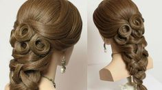 Prom bridal hairstyles for long hair tutorial.