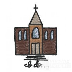 Cute! Wedding Chapel machine embroidery design from Amazing Designs