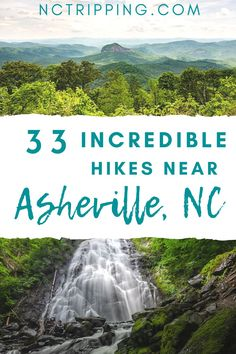 Hiking is one of the most popular things to do in and around Asheville, North Carolina. Gorgeous waterfalls and beautiful scenery surround the city of Asheville, so you don't want to miss these 33 amazing hikes. Whether you're a beginner hiker or an expert looking for something difficult, there are plenty of hikes for you to choose from! Check out this ultimate Asheville hiking guide from NC Tripping. #beginnerhikes #experthikes #northcarolinatravel #hikingasheville…